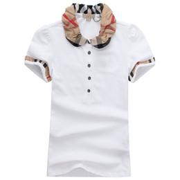 Vente en gros Womens Designer T-shirts de haute qualité Impression ronde Marque Designer T-shirts Modèles Court-femmes Polo Shirts En Gros