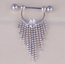 316l surgical steel nose ring NZ - 316L Surgical Steel Barbell Piercing Nipple Ring Bar Body Jewelry Fake Nipple Ring Nose Rings Navel Bell Button Rings