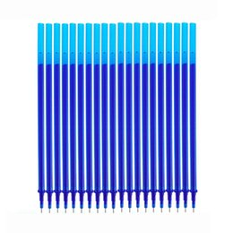 Gel ink pen refill online shopping - 10 Set Erasable Pen Washable Handle mm Blue Black Ink Blue Gel Pen Erasable Refill Rod School Office Writing Stationery