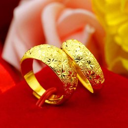 $enCountryForm.capitalKeyWord NZ - Gold shop 1:1 sand gold pure brass gold-plated jewelry thickened star couples ring