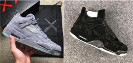 7000be3a42a9 KAWS x 4 4s XX Kaws Cool Grey White Glow Men Basketball Shoes 4s White Blue  Black Sports Sneakers In Cheap Price