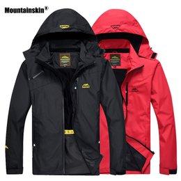7d671061296 Army Gore Tex Jacket Australia - Mountainskin Hiking Jacket Men Autumn Outdoor  Sports Coats Hooded Climbing