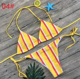 845038d3a2 women printed bikini set push up bikini bralette swimwear cheeky bikini  bottom swimsuit skinny playsuits swimming bikinis