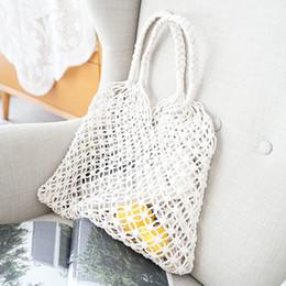 Ladies Cotton Handbags Australia - Women Lady Handbag Girl Woven Shoulder Bag Zipper Cotton Thread Vintage For Travel Beach good quality