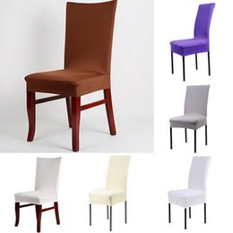 $enCountryForm.capitalKeyWord Australia - Juneiour Solid Printing Removable Chair Cover Big Elastic Slipcover Modern Kitchen Seat Case Stretch Chair Cover For Banquet