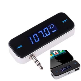 $enCountryForm.capitalKeyWord UK - 3.5mm Electronic In-car Car FM Transmitter Wireless LCD Stereo Audio Player for iPhone 6 Pus iPod Touch Galaxy S6 MP3 MP4