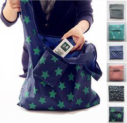 Tragbare, faltbare Einkaufstaschen Wiederverwendbare Einkaufstasche Umweltfreundlich Verdicktes Oxford-Tuch Wasserdichte Strandtasche im Beutel im Angebot