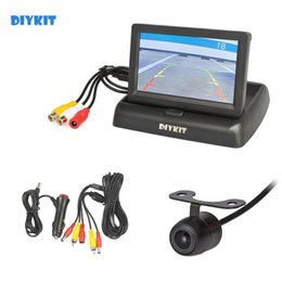 Wired camera kit online shopping - DIYKIT Wired Inch Foldable Rear View Monitor Car Monitor Reversing Camera Car Camera Kit Back Up Parking Accessories