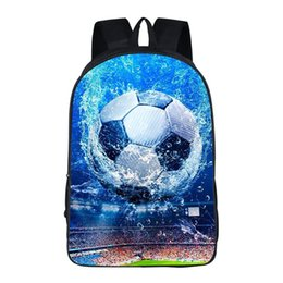 two books NZ - Football Soccer Print Men School Bags Teenager Boys 3 Set Primary Casual Backpack Children Book Bags Junior Rucksack K1290G