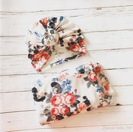 $enCountryForm.capitalKeyWord Australia - Flowers Baby Muslin Swaddle Wrap Blanket Wraps Blankets Nursery Bedding Towelling Baby Infant Wrapped Cloth With Hat 14949