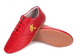 venda por atacado Clássicos de Couro de Borracha-sapatos de lã dos homens de Alta Qualidade sapatos de Kungfu wushu taiji sapatos