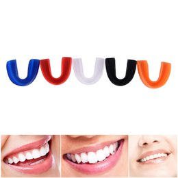 wholesale boxing shields NZ - 1 Set New Shock Sports Mouth Boxing Fitness Suppliesguard Mouth Guard Teeth Protect for Boxing Basketball Top Grade Gum Shield