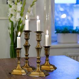 Oil Stick Art Australia - Creative shape ceramic candle holder, candelabra with 5pcs free candles, decorative candle stick