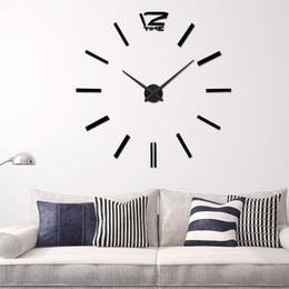 metal stickers set 2019 - Quartz Diy 3D Wall Clock 20 Inch Large Clock Watch Best Acrylic Mirror Metal Wall Stickers Clocks Home Decoration cheap