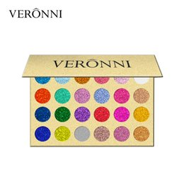 veronni eyeshadow NZ - In Stock Brand VERONNI Professional Beauty Cosmetics Easy To Wear Glitter Eye Shadow Palette 24 Colors Makeup Glitter Eyeshadow Palettes