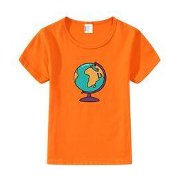 $enCountryForm.capitalKeyWord Australia - Boys Summer Clothes Kids Casual Outfits Cartoon Globe Print T-shirt Summer Fashion Children Girls Clothing Infant Tops