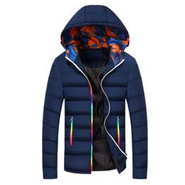 Waterproof Parka Men Australia - Winter Jacket Men Warm Coat Cotton-Padded Outwear Mens Coats Jackets Hooded Collar Waterproof Zipper Thick Parkas Male Homme 677