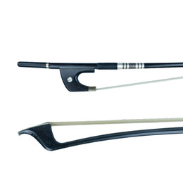 violin bow hair Australia - NAOMI Bow German Style Double Bass Bow Carbon Fiber Double Bass Bow Ebony Frog Mongolia Horse Hair