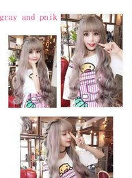 Girls Wavy Hair Australia - 5 Colors Girl Women Anime Lolita Long Curly Wavy Hair Party Cosplay Fluffy Full Wig