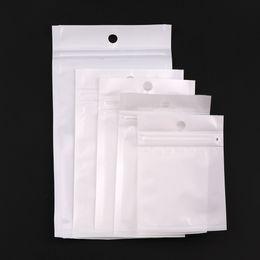 White Self Sealing Bags Australia - 5 Size White Clear Self Seal Zipper Plastic Retail Packaging Pack Poly Bag Ziplock Zip Lock Storage Bag Package With Hang Hole C18112801