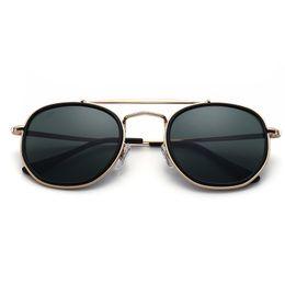 Glasses Sun Protection Australia - Hot Classic Vintage Sun Glasses Bright Black frame Glass UV protection G15 lens Man Women Sunglasses 50 54mm Come Brown box