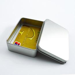 Metal Key Box Australia - 1000pcs Popular Tin Box Empty Silver gold Metal Storage Box Case Organizer For Money Coin Candy Keys U disk headphones gift box