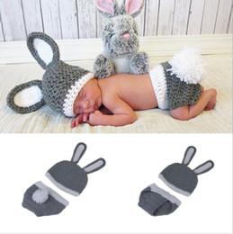 Baby Crochet Rabbit Australia - Bunny Rabbit Newborn BABY Photography Props Easter Rabbit Infant Baby Photo Prop Crochet Photography Props