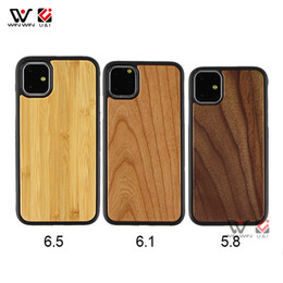 wholesale blank cell phone cases Australia - Custom Logo Blank Wood Cell Phone Cases For iPhone 11 Pro Max For iPhone 6 7 8 11 X XR XS MAX