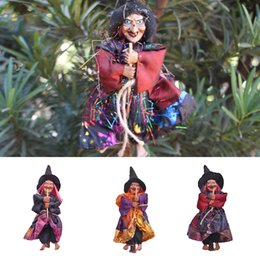 scary halloween party decorations NZ - Halloween Witch Decoration Scene Arrangement Hanging Haunted House Terror Scary Witch Tricky Props Party Ornament Accessories