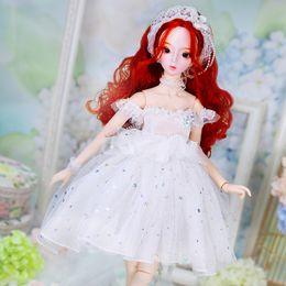 $enCountryForm.capitalKeyWord NZ - Dearm Fairy Clothes for 1 3 BJD Doll 62cm handmade white wedding dress with delicate headwear high quality Free Shipping ICY,SD