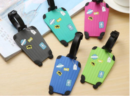 Cartoon travel suitCase online shopping - Travel Accessories Creative Luggage Tag Fashion Cartoon Silica Gel Suitcase ID Addres Holder Baggage Boarding Tags Portable Label A180868