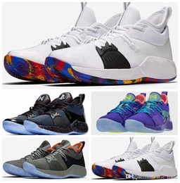 New Paul George Shoes NZ - Arrival New Paul George 2 Men Basketball Shoes Hig quality PG2 PS4 Playstation Black BLue Red White PG 2s Sports Sneakers des chaussures