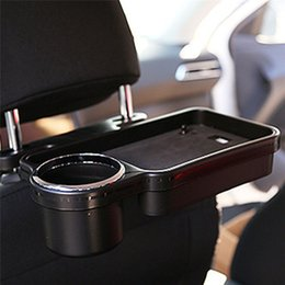 foldable car tray Australia - Hot Car Auto Rear Back Seat Table Drink Cup Tray Holder Desk Stand Mount Car Seat Back Meal Tray Foldable Desk Table Stand