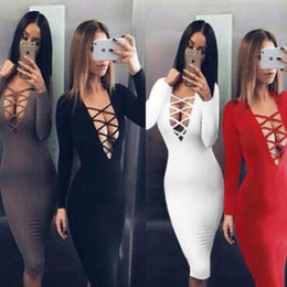$enCountryForm.capitalKeyWord Australia - women clothes Fashion Women Lady Bodycon Slim Pencil Dress Ladies Evening Party Nightclub Bandage Dress Long Sleeves Casual Dresses 181130