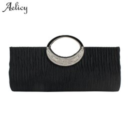 $enCountryForm.capitalKeyWord Australia - Aelicy 2019 New Design Women Elegant Evening Wedding Day Clutches Satin Fake Designer Handbags High Quality Pleated Women Bag