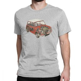 Discount classic car novelties - 2019 Womens luxury designer t shirts Austin Mini Classic 1275 Car Novelty T Shirts Man Short Sleeve Tops Comfortable Tee