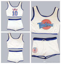 Wholesale girl s jersey online – oversize Space Jam Tune Squad Ladies Set Girls Jersey With Shorts LOLA White Basketball Jersey Stitched XS S M L XL