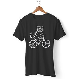 $enCountryForm.capitalKeyWord NZ - Cat Riding Bike Bicycle Man's   Woman's T-Shirt suit hat pink RETRO VINTAGE Classic