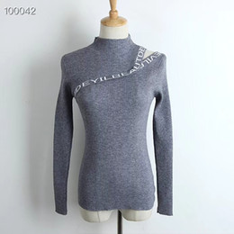 women grey sweaters NZ - 2018 AUTUMN WINTER WOMEN SINGLE COLOR WEATERS LADIES TURLTENECK GIRLS KNITTED SWEATER BLACK WHITE GREY FEMME SWEATERS