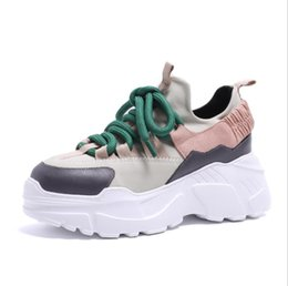 43dbacd09fd9 Spring and Autumn Heavy-soled Flat-soled Shoes Leisure Women s Sports Shoes  Fashion Korean Muffin Women s Shoes 2 Colors