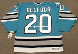 $enCountryForm.capitalKeyWord Australia - custom Mens ED BELFOUR San Jose Sharks 1997 CCM Jerseys Vintage Cheap Retro Hockey Jersey