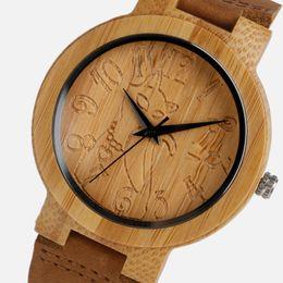 $enCountryForm.capitalKeyWord UK - omen's Watches Quartz Wristwatches Vintage Wood Watch Bamboo Women Lovely Cat Casual Nature Bamboo Quartz Wristwatches Simple Creative Ge...