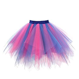 $enCountryForm.capitalKeyWord Australia - Tulle Mini Skirts For Womens Adult Solid Color High Quality Pleated Gauze Colours Short Skirt Adult Tutu Dancing Skirt Jupe