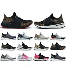 Cheaper Running Shoes Australia - Cheaper New Ultra 2019 Running shoes For men women Cloud White Black Dark Pixel Refract Clear Brown Primeknit sports trainers sneakers 5-11