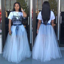 $enCountryForm.capitalKeyWord Australia - Tulle Skirt Pleated Tutu Skirts Womens Jeans elastic mesh transparency skirt Lolita Petticoat Bridesmaids Jupe Saias falda