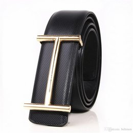 Men's Belts Bright Men Casual Genuine Leather Belts Black Brown Stitch Patchwork Male Belt Golden Silver Buckle Strap Ceintures Homme High Quality Goods