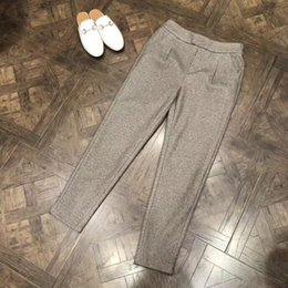 $enCountryForm.capitalKeyWord Canada - Elegant Blazer Pants Women 2018 High Quality Woman Winter Cashmere Pants Ladies Woolen Trousers Slim Casual