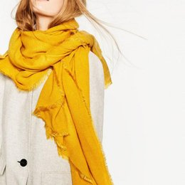 red designer scarves NZ - 2019 Winter New Supersoft Oversized Scarf Yellow Cashmere Feel Scarves for Women Men Brand Designer Scarf Christmas Coat Cape