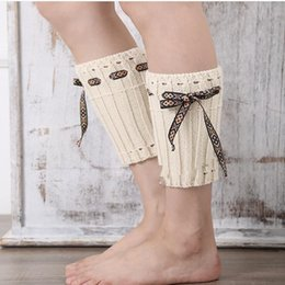 Wholesale 2019 Hot Sale Fashion New Knitted Leg Warmers Women Girls Winter Crochet Lace Rope Boot Sock Cuff