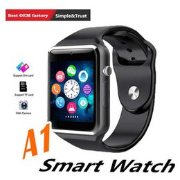 $enCountryForm.capitalKeyWord Australia - A1 Smart Bluetooth Watch For Apple iPhone Samsung Android Smartphone Full Function Smartwatch Support SIM TF Card With HD Camera